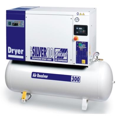 NEW SILVER D 10/300 10 bár csavarkompresszor hűtveszárítóval