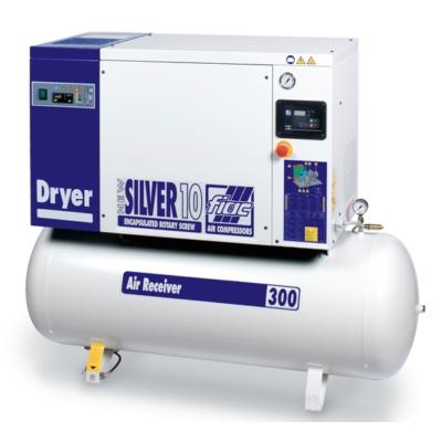 NEW SILVER D 10/500 10 bár csavarkompresszor hűtveszárítóval