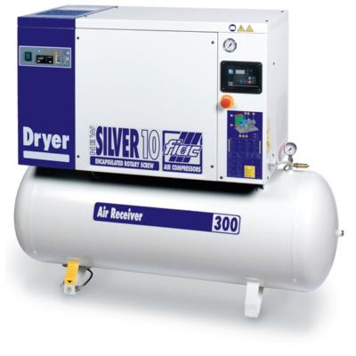 NEW SILVER D 7,5 / 300 - 10 bár csavarkompresszor hűtveszárítóval