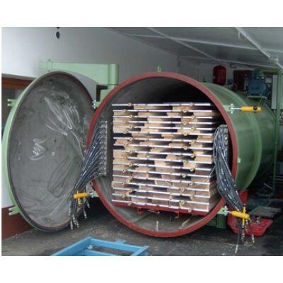 Vákuumszárító Inox kivitelben 5m3-től, fűrész árú szárítás, konvekciós szárítókamra, vákum szárító, frisslevegős, gőzölés, akác szárítás, bükk  pörkölés, raklap hőkezelés
