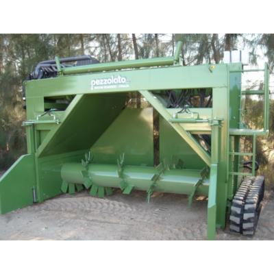 Pezzolato PRS 3000 komposzt forgató, tárcsás aprító, dob aprító, apríték, apríték darálás, apríték szárítás
