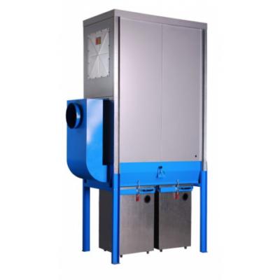 FJ 18 -1BO modulos filteres elszívó acél gyűjtő konténerrel, külső telepítésre is.