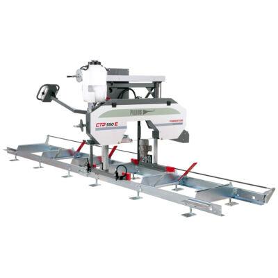 Pilous CTR 550E vízszintes szalagfűrész, rönkhasító fűrész