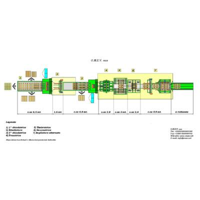 OMEV 45-50 db /órás kapacítású raklapszegező technológia raklapszegező hidraulikus, hosszvágó, keresztvágó, daraboló, pneumatikus körfűrész, optimalizáló, hibakiejtő, raklapelem, egyutas raklap, EU raklap, raklapszegezés